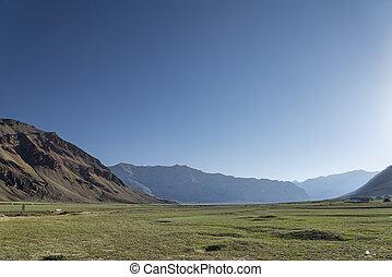 Green Hi,alayan valley at morning