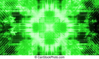 Green high tech abstract mashup VJ  looping animated CG background