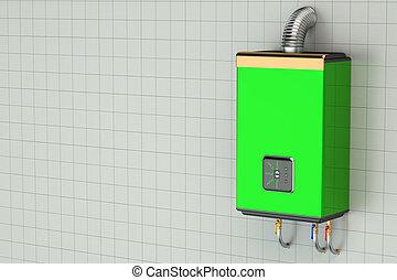 Green home gas-fired boiler, water heater