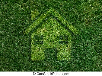 Green home green world. - ecology concept, Green home green...