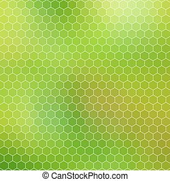green honeycomb - abstract geometric hexagon grid