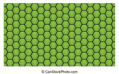 green honeycomb background
