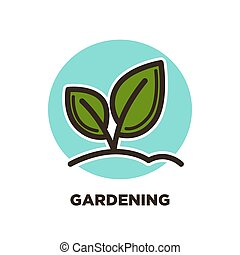 Green horticulture, planting or gardening agriculture ...