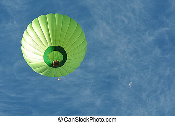 Green Hot Air Balloon