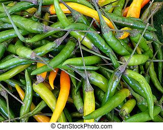 Green Hot Chillies