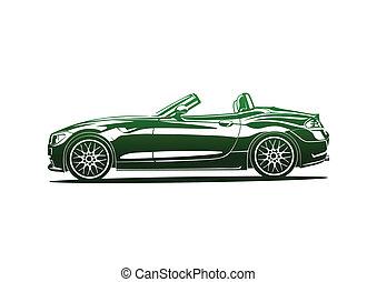 Green hot sport car