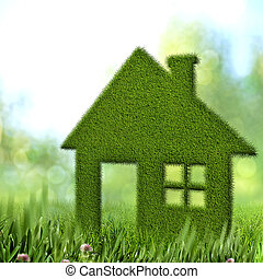 Green house, abstract environmental backgrounds
