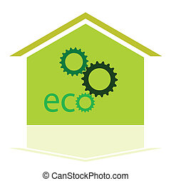 green house eco sign
