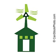 green house ecology icon