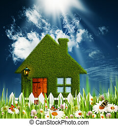 Green House. Environmental backgrounds for your design