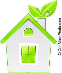 Green house icon. Ecology concept