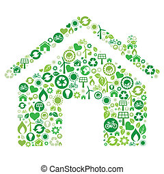 green house icon - green house illustration, environment ...