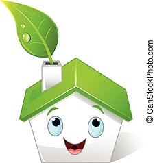 Green house - Illustration of green house