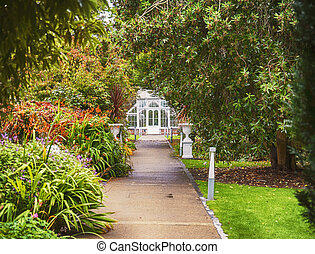 green house in old Irish garden