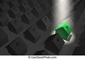 Green House in Top Spotlight - residential estate in grey - ...