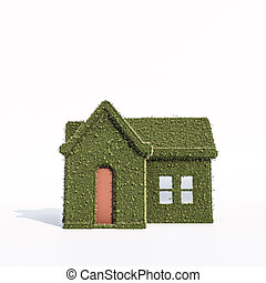 green house isolated on white background