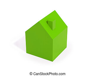 green house isolated on white background, suggests idea of...