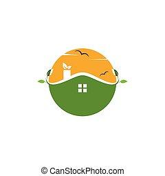 green house logo vector illustration