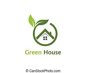 Green house logo vector