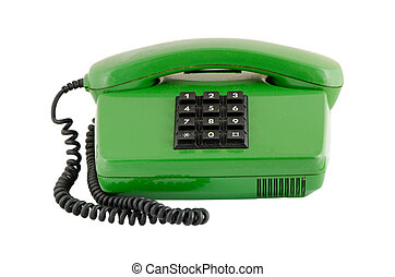 green house phone black buttons isolated on white