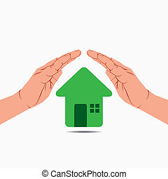 green house under hand