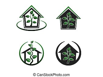 Green house -vector set