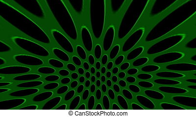 Green Hypnotic Circles Motion Background