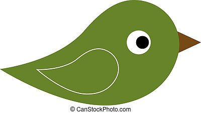 Green icon of bird