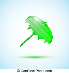 Green icon umbrella