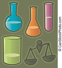 Green icons for pharmaceutics - Set of pharmaceutical icons....