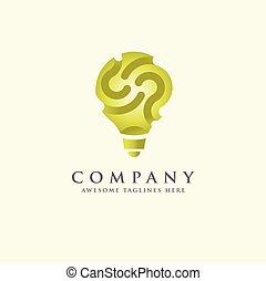 green idea innovation symbol logo