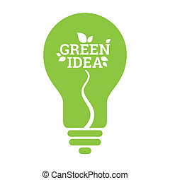 Green Idea Light Bulb Leaf Icon