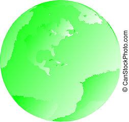 Green Illustrated Globe