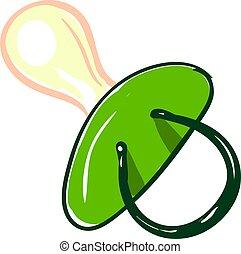 Green, illustration, vector on white background.