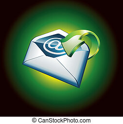 Green Important Email Icon