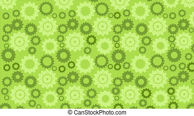 Green Industry background, Video animation