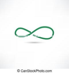 Green infinite simbol