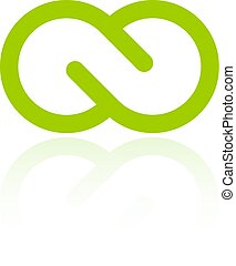 Green infinity loop logo