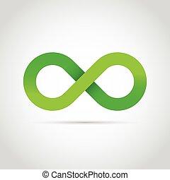 Green infinity symbol logo icon