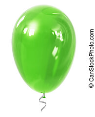 Green inflatable air balloon