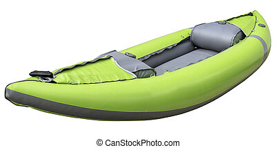 green inflatable whitewater kayak - green inflatable...