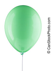 green inflated air balloon