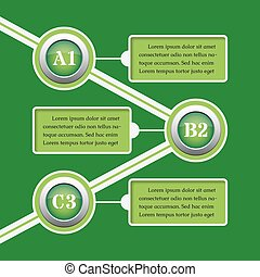 green infographic banners - design templates