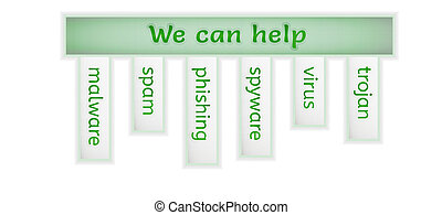 green infographic with we can help - green info graphic with...