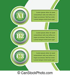 green infographics banners