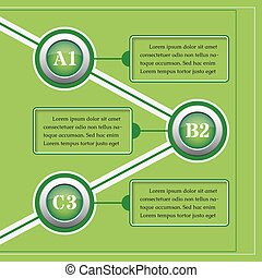 green infographics templates