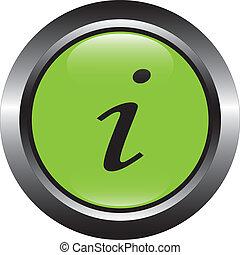 green information vector button