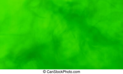 green ink circled in green water