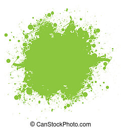 Green ink splatter - Grunge green ink splat with copyspace...