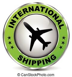 green international shipping sign
